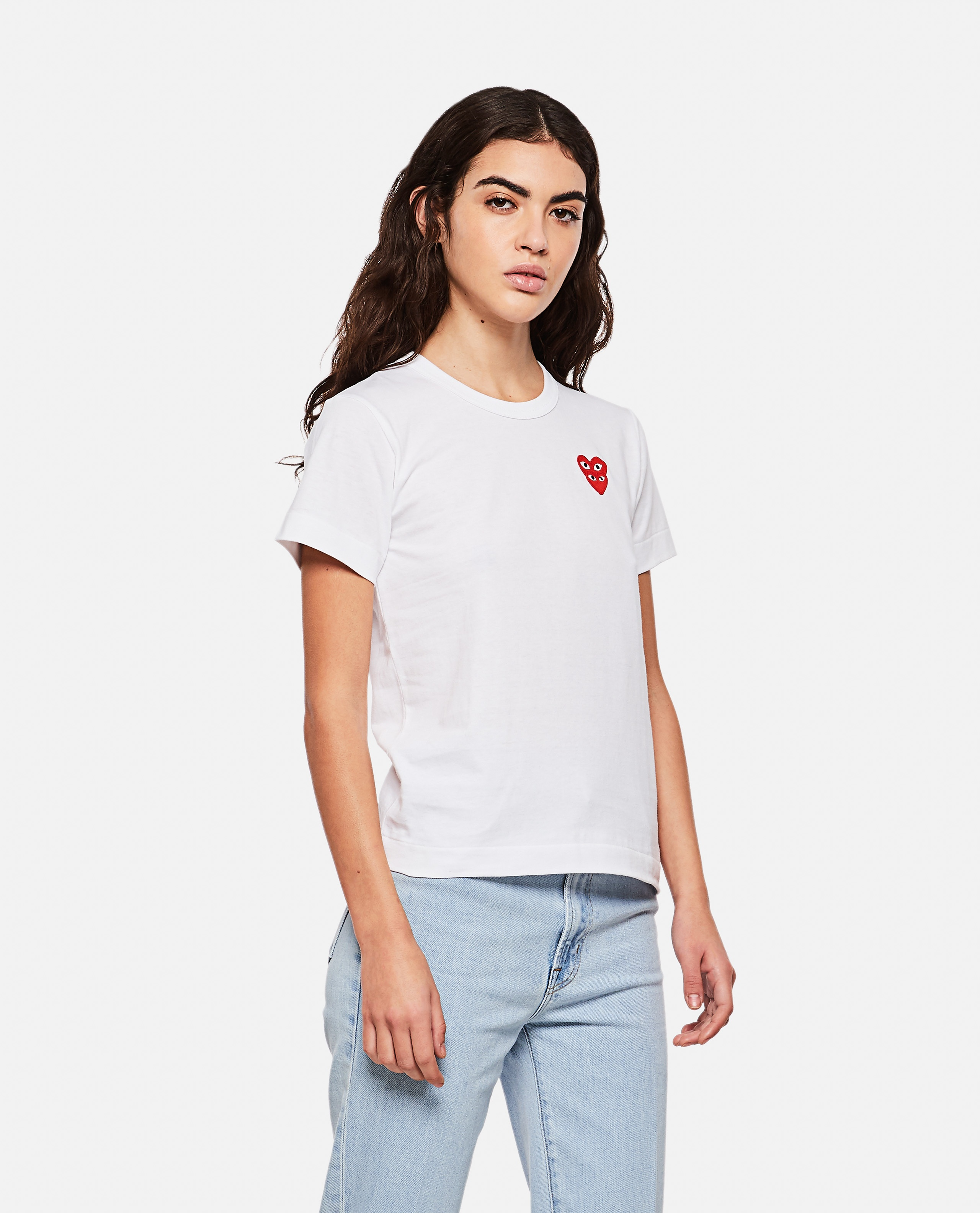 T-shirt with hearts Women Comme des Garcons Play 000267290039440 1