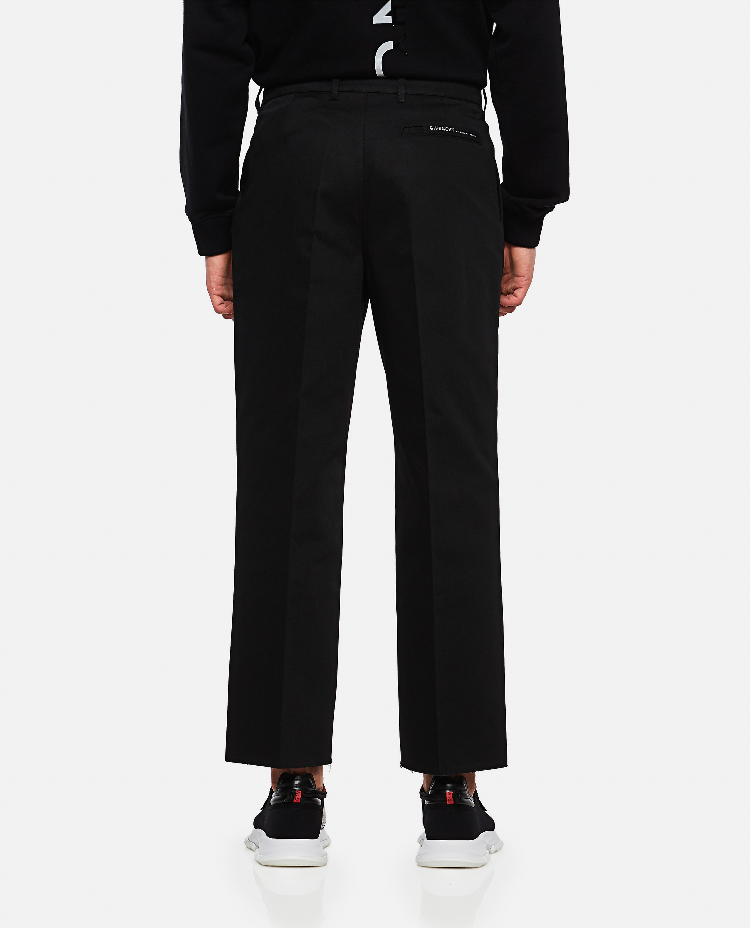 Cotton crop tailored chinos Men Givenchy 000226620033503 3