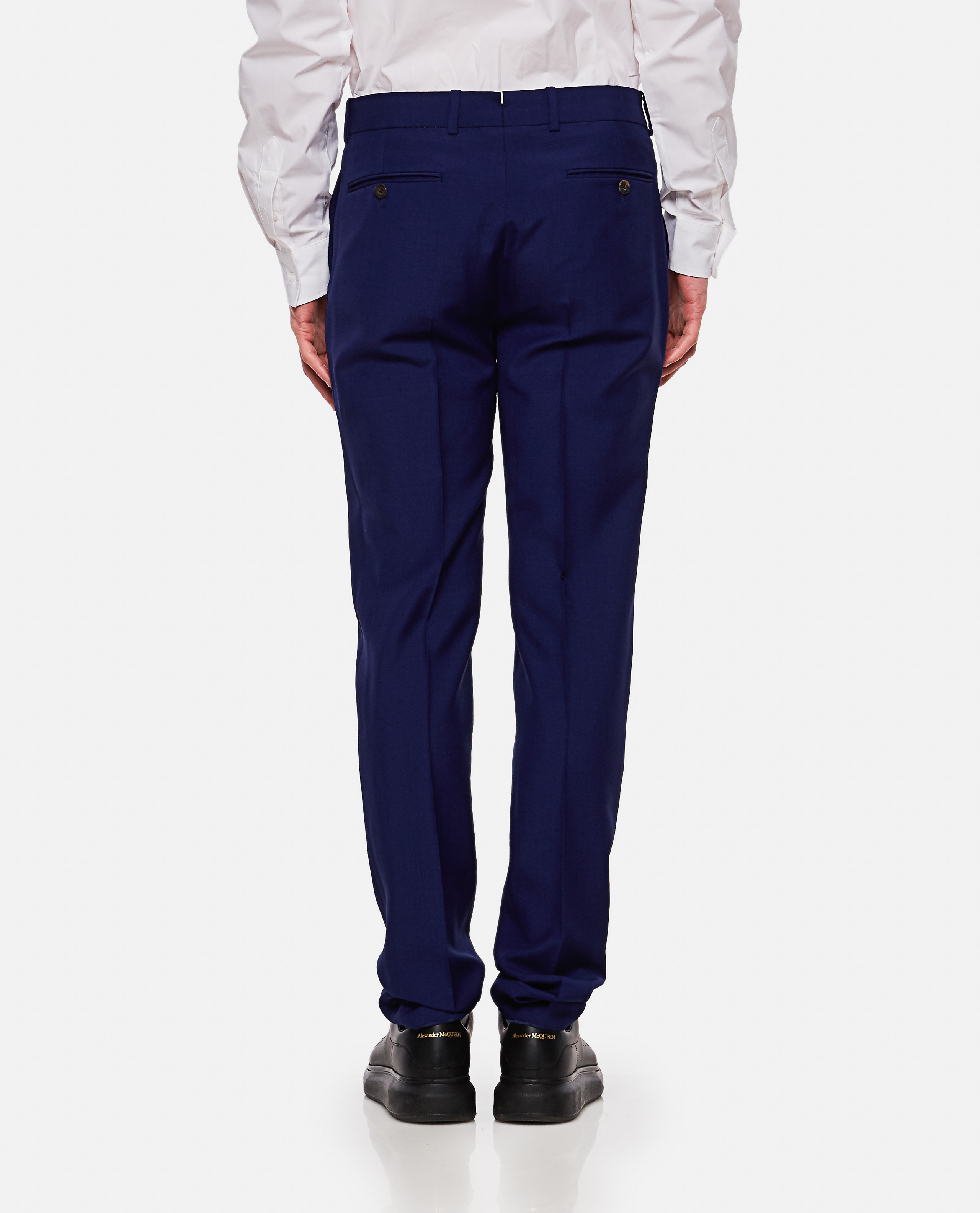 Tailored wool and mohair trousers Men Alexander McQueen 000214990031913 3