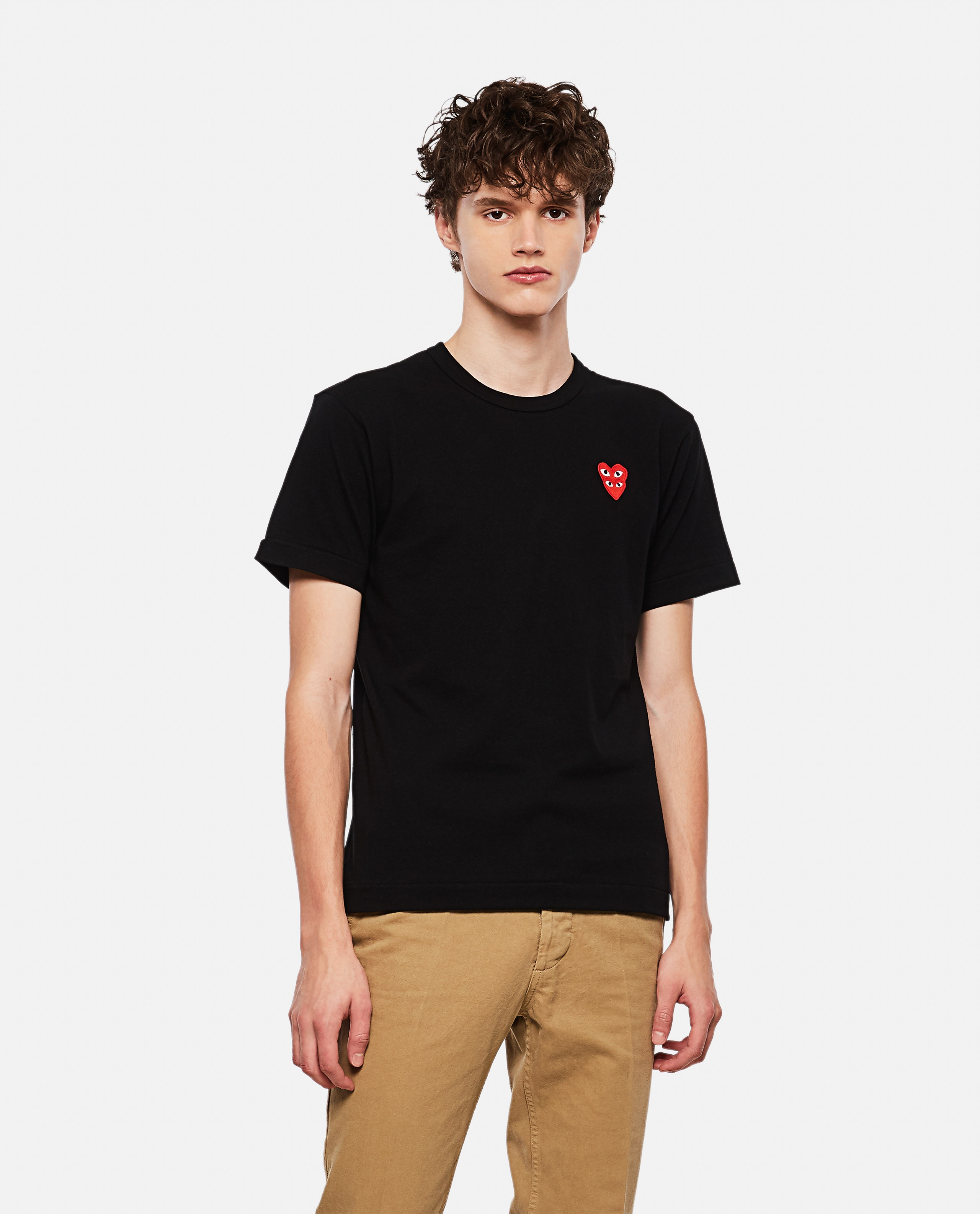 T-shirt with hearts Men Comme des Garcons Play 000267360039450 1