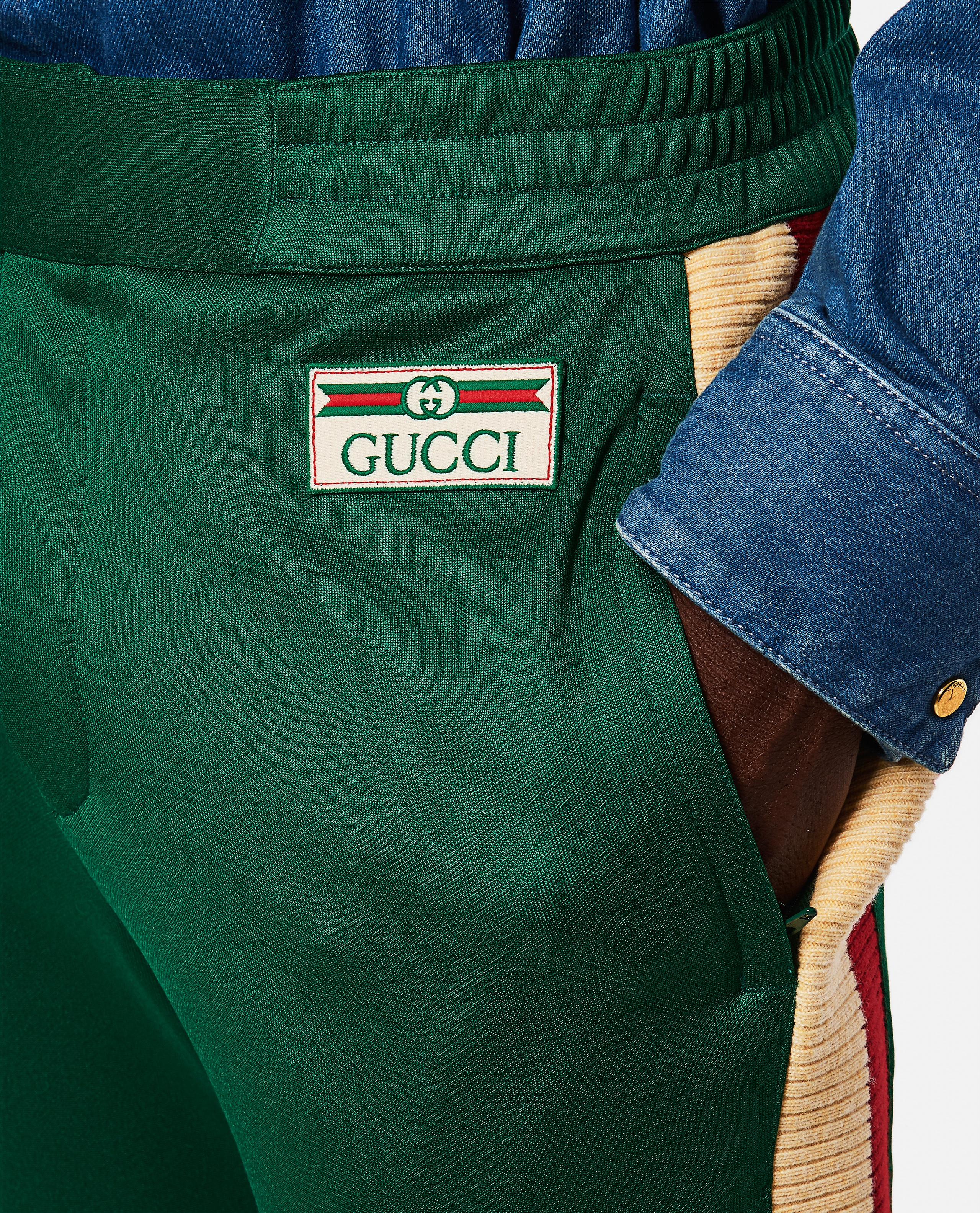 Jogging trousers in technical jersey Men Gucci 000267620039483 4