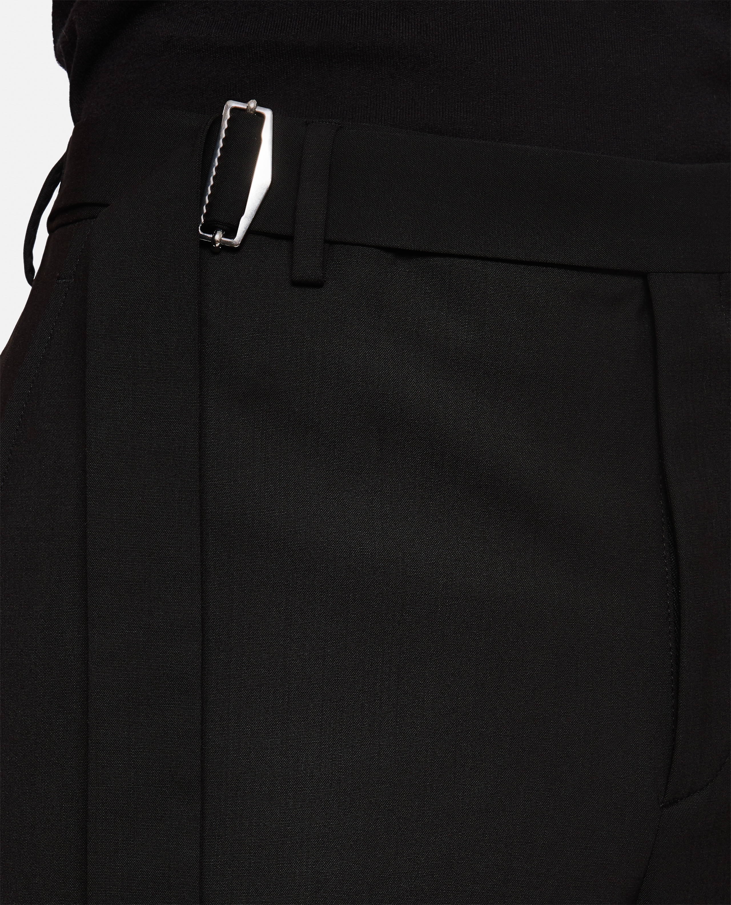 Valentino trousers in wool blend with buckle Men Valentino 000264010039012 4