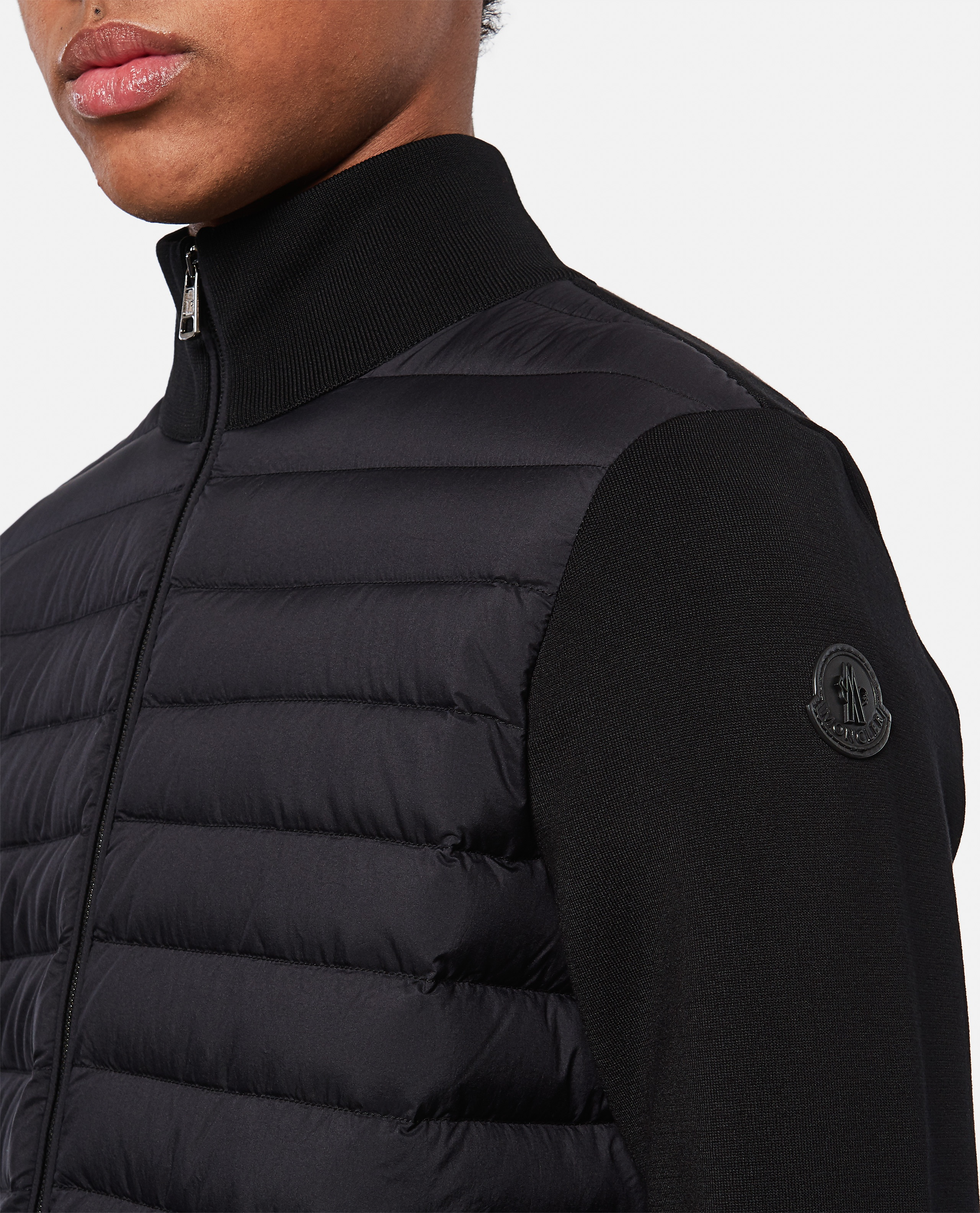 Tricot cardigan with padded detail Men Moncler 000315490046237 4