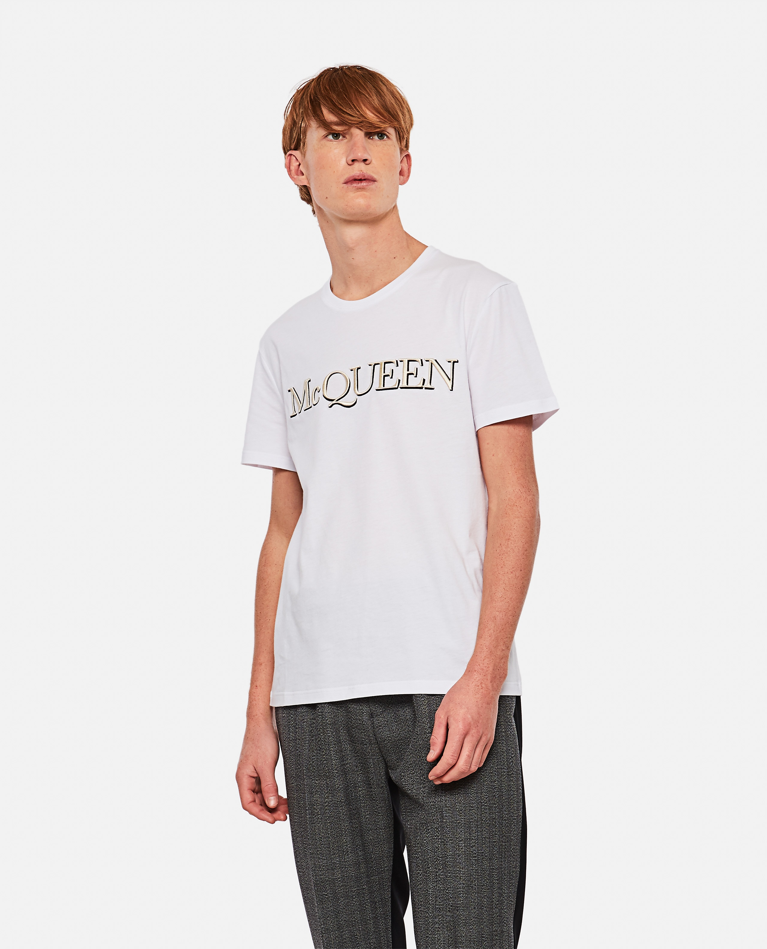 T-shirt with embroidery Men Alexander McQueen 000291000042843 1