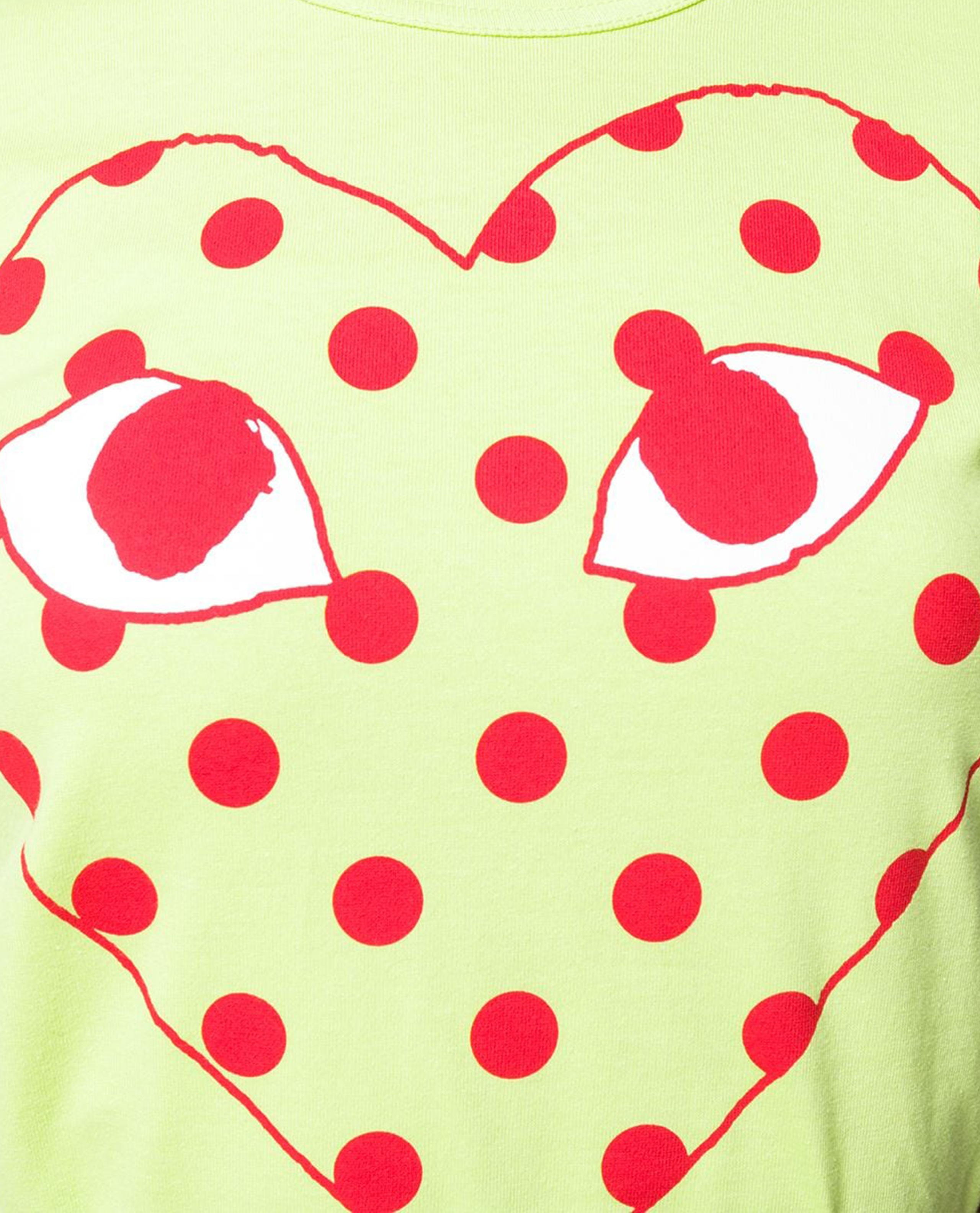 T-shirt con stampa logo Donna Comme des Garcons Play 000230910034071 2