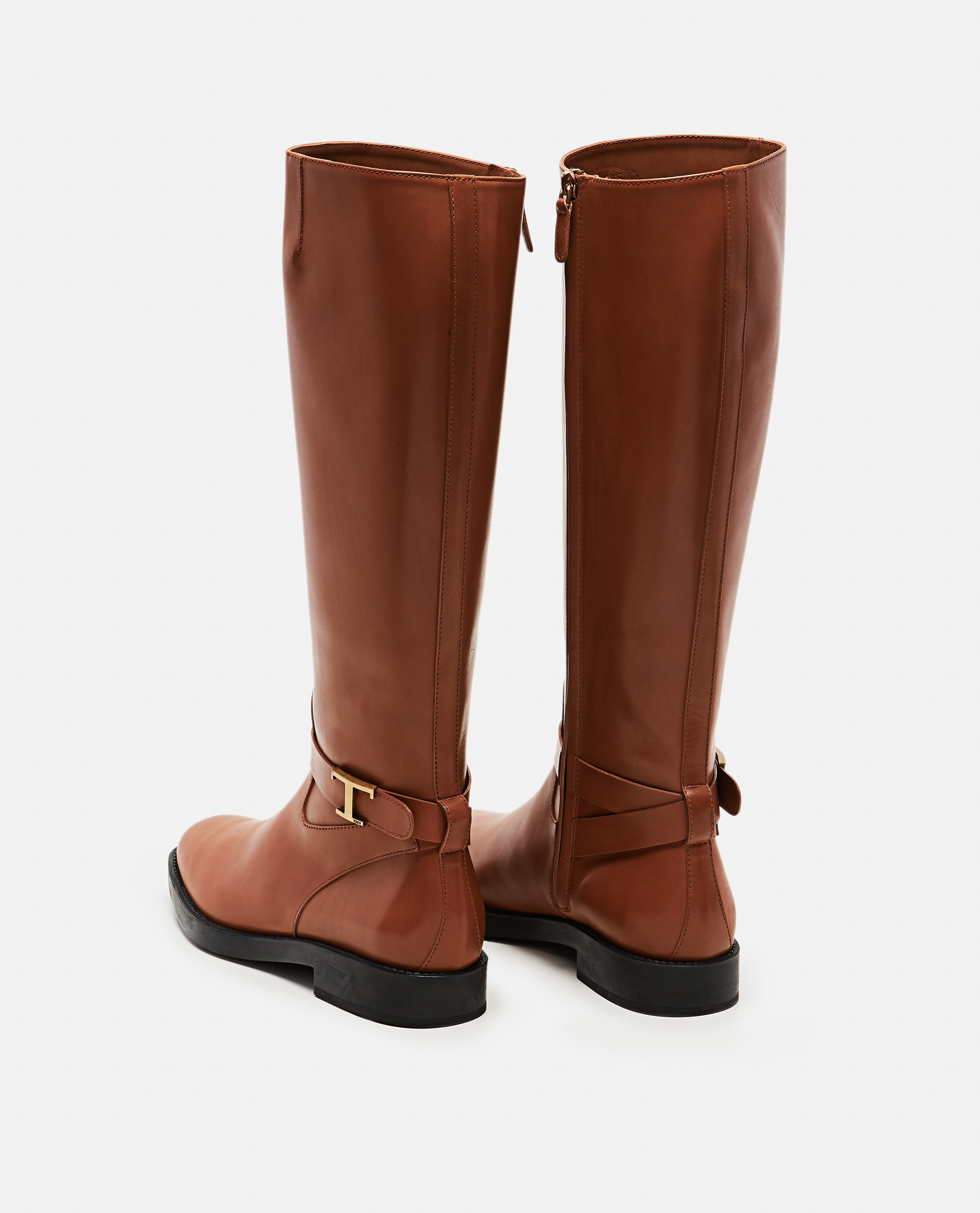 Boots with logo plaque Women Tod's 000255630037776 3