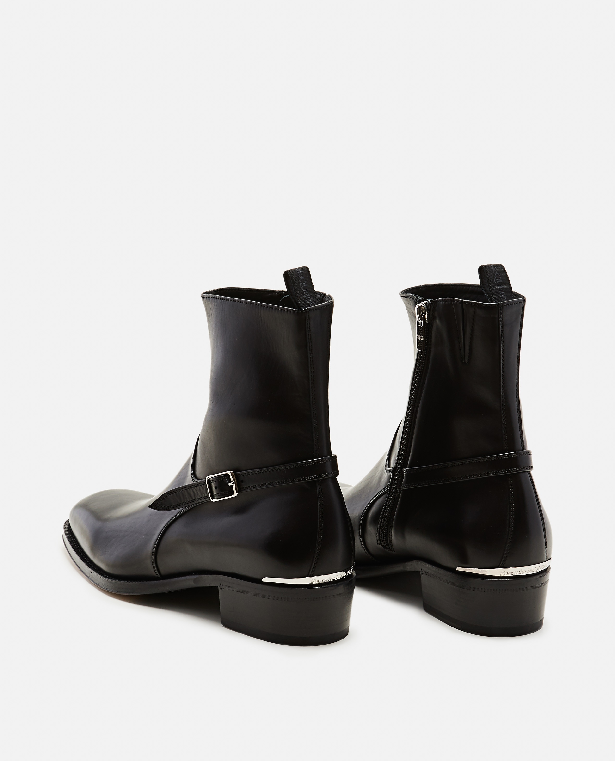 Ankle boots with strap Men Alexander McQueen 000179890026780 3