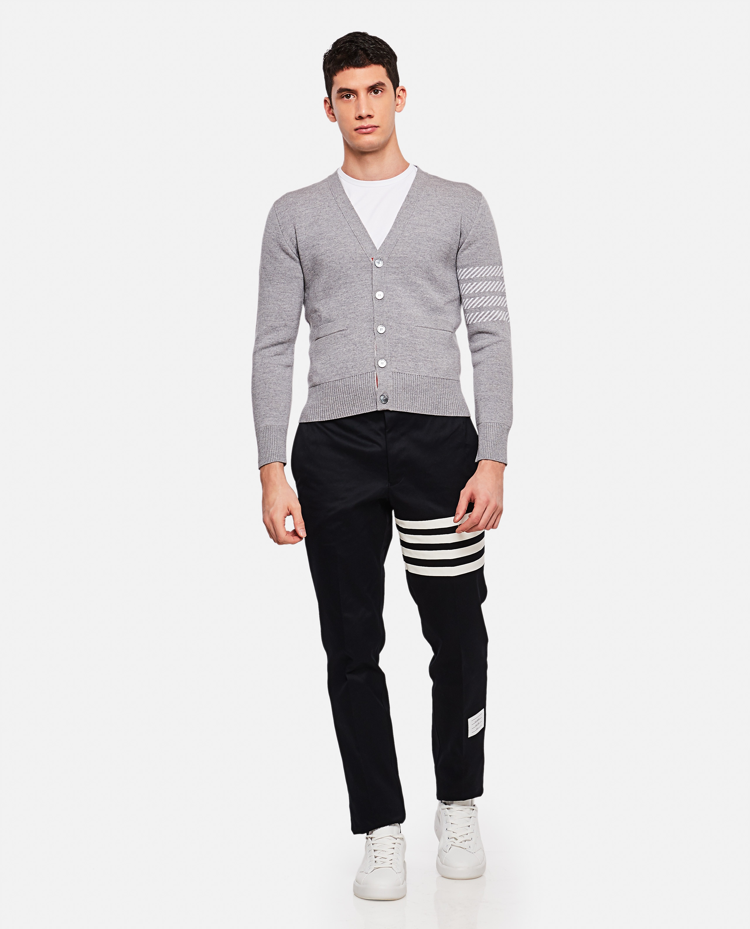 Cotton twill chino trousers Men Thom Browne 000110820016816 2