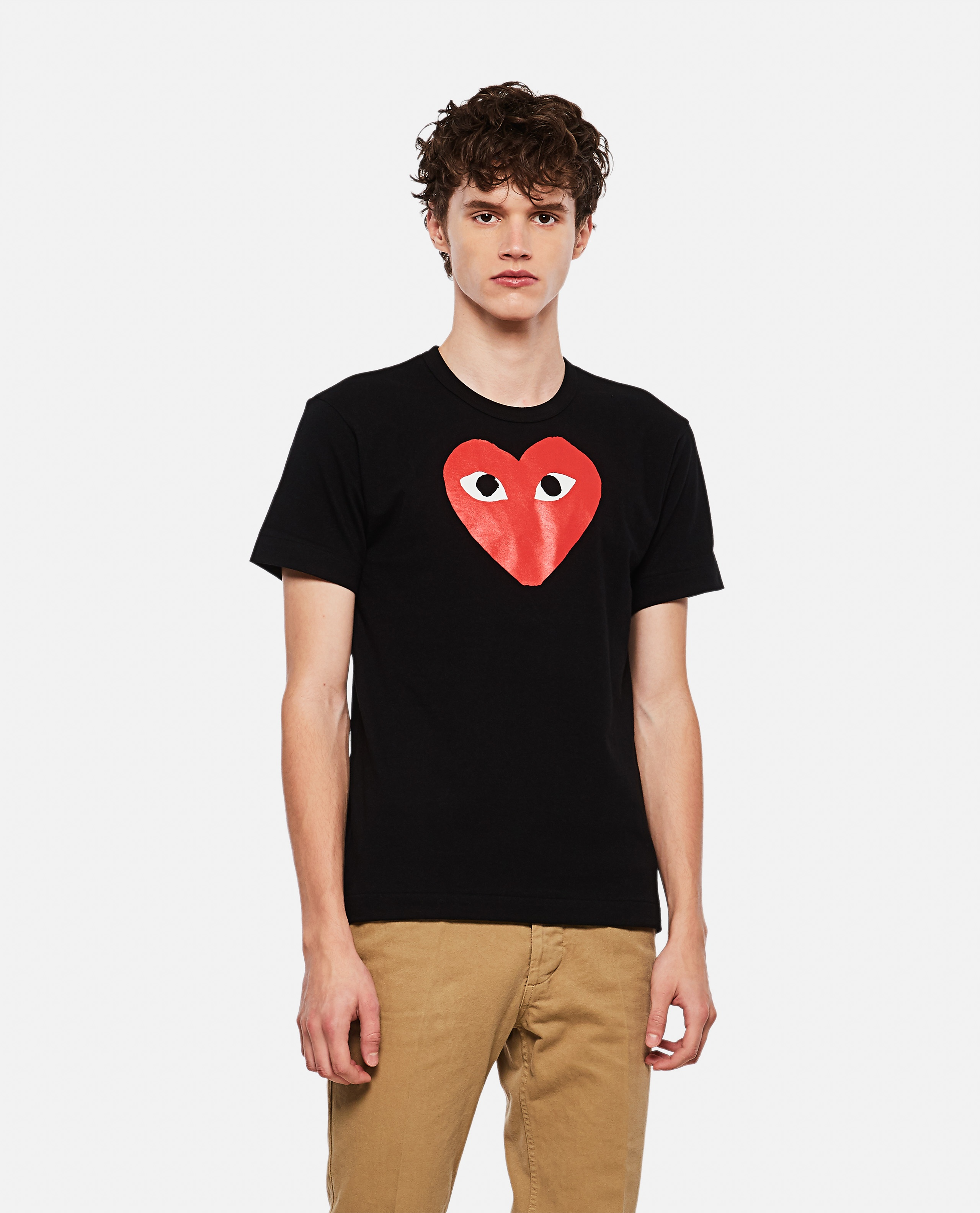 T-shirt with heart print Men Comme des Garcons Play 000107030016299 1