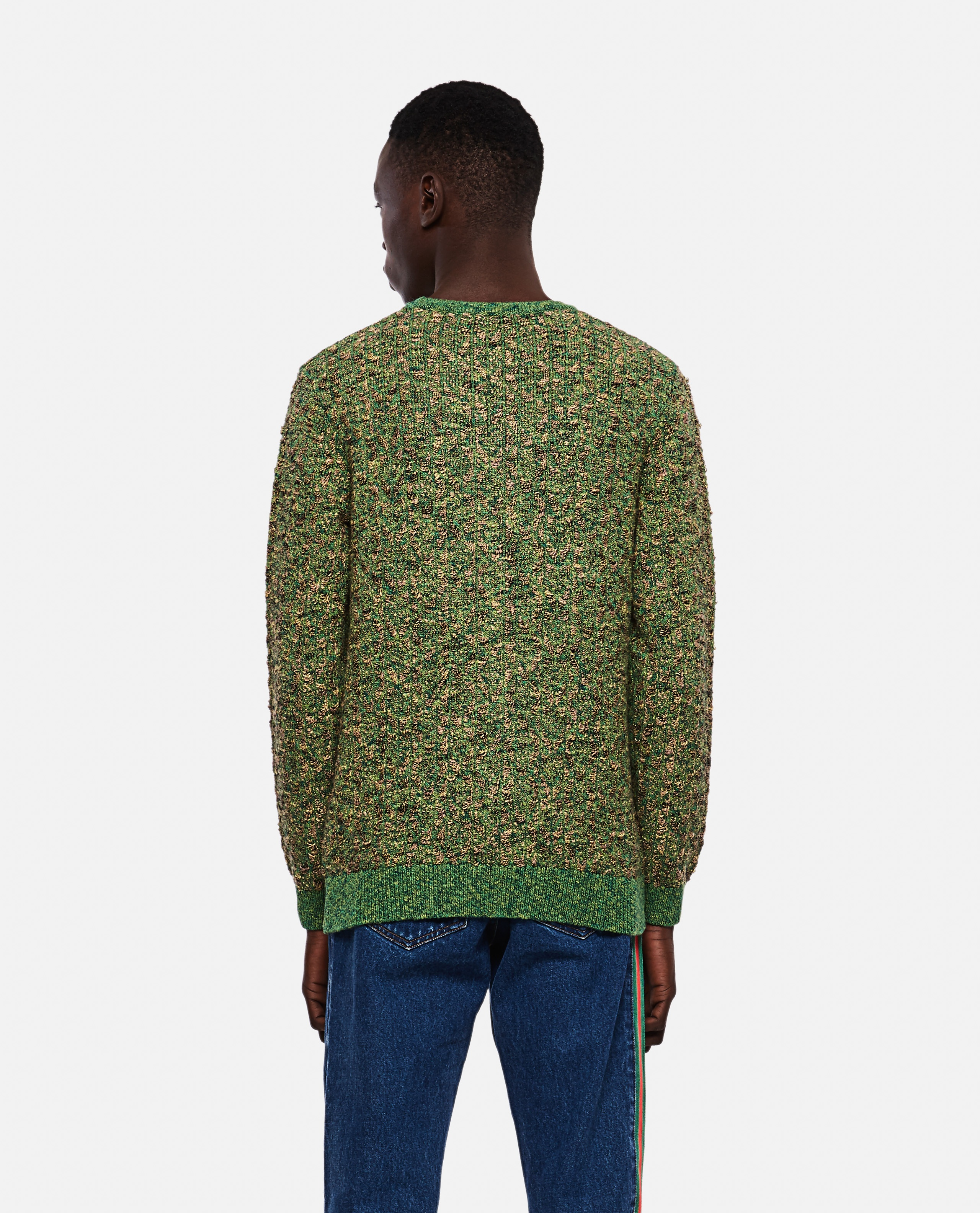 Knitted pullover with inlaid Anchor motif Men J.W. Anderson 000293170043180 3