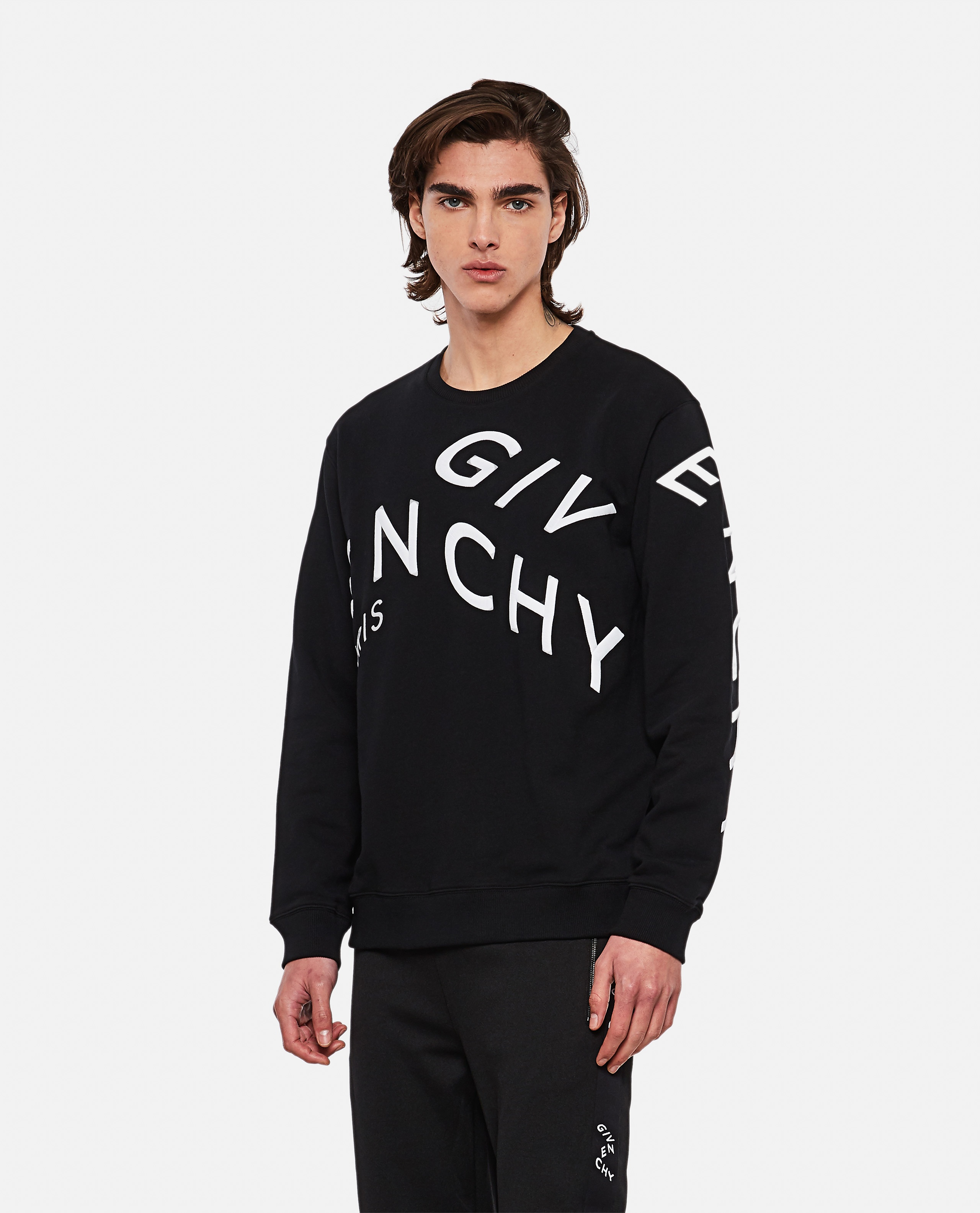 Refracted sweatshirt with embroidery Men Givenchy 000302000044348 1