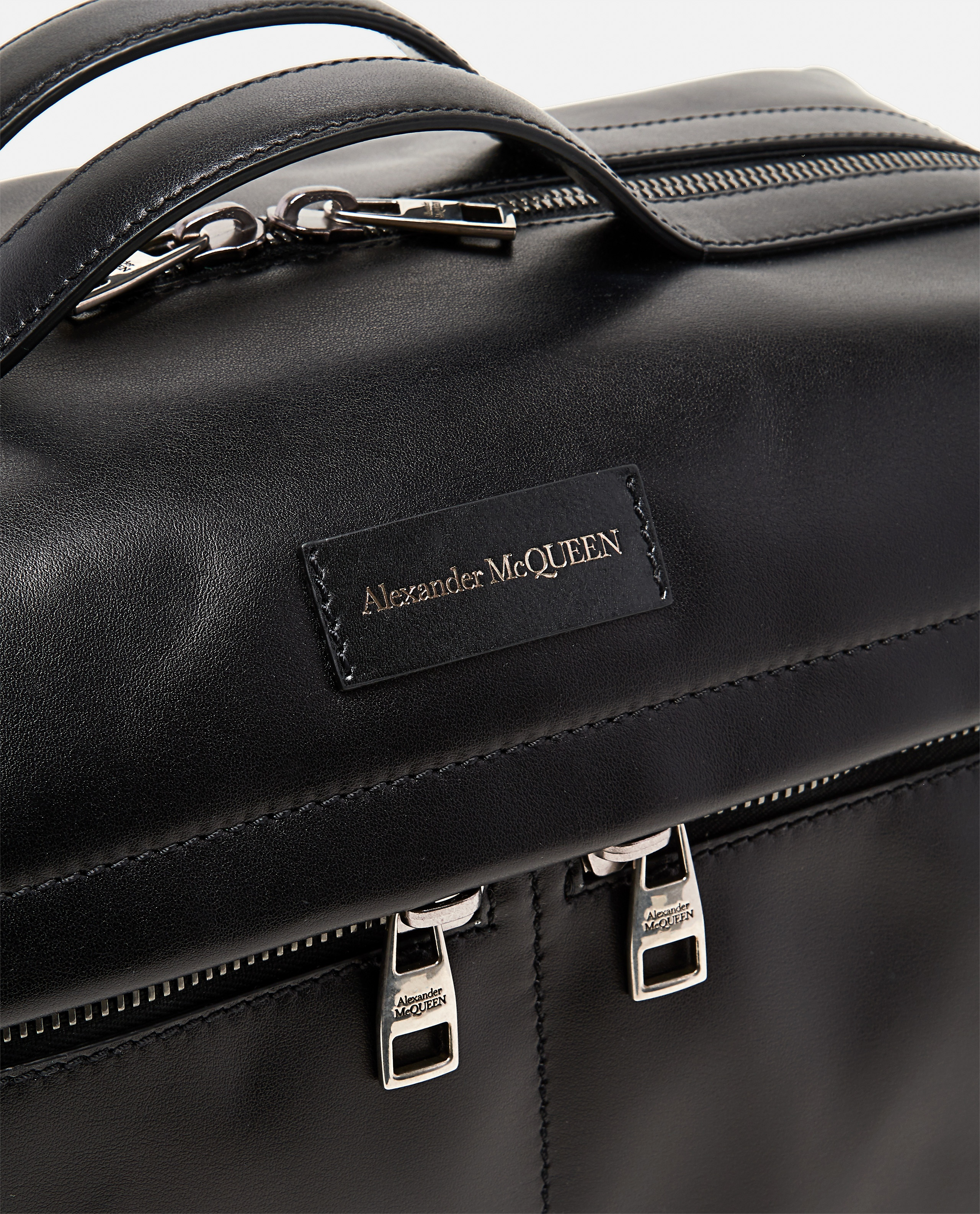Smooth leather tote bag Men Alexander McQueen 000268880039640 3