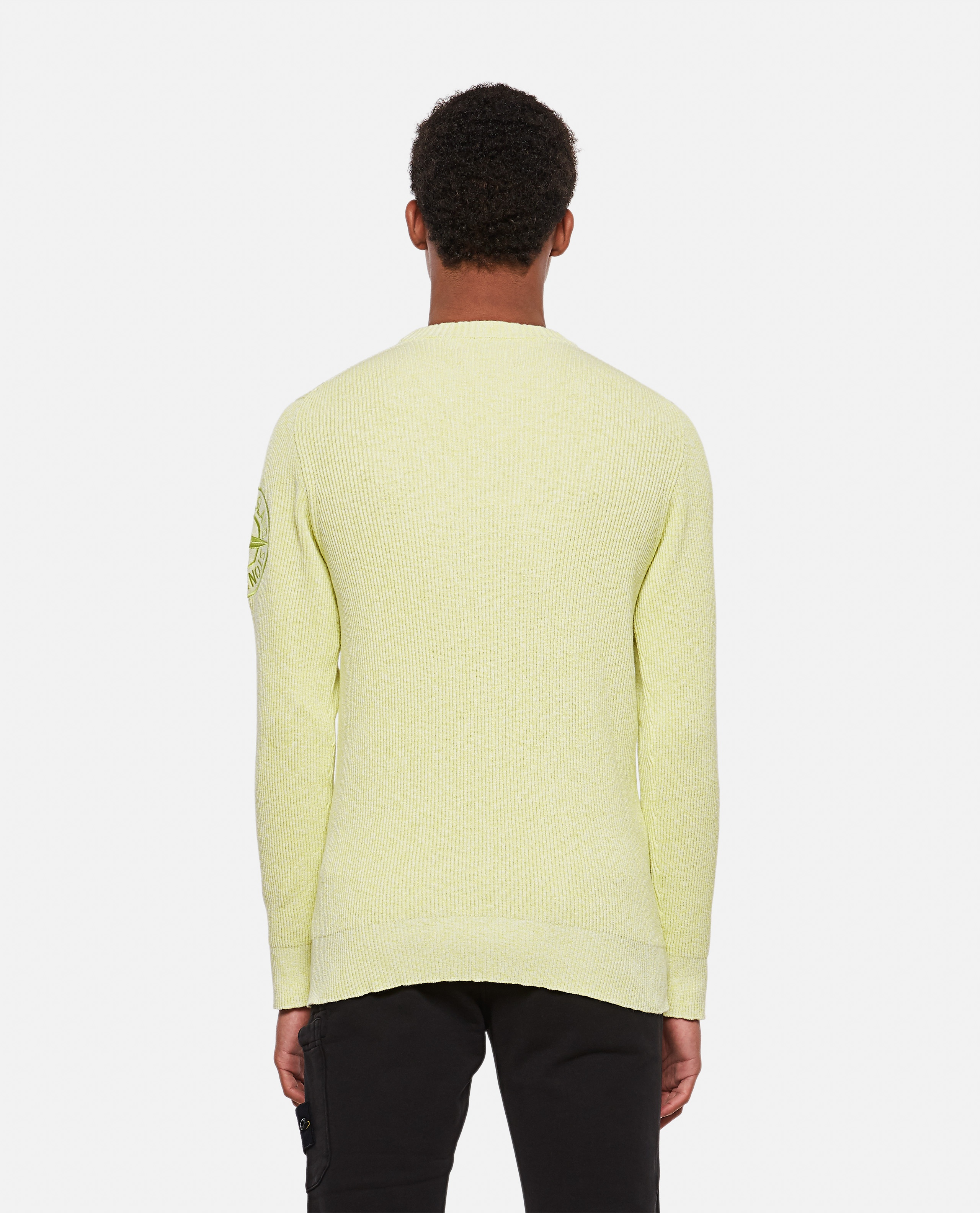 Ribbed sweater with logo patch Men Stone Island 000292750043124 3