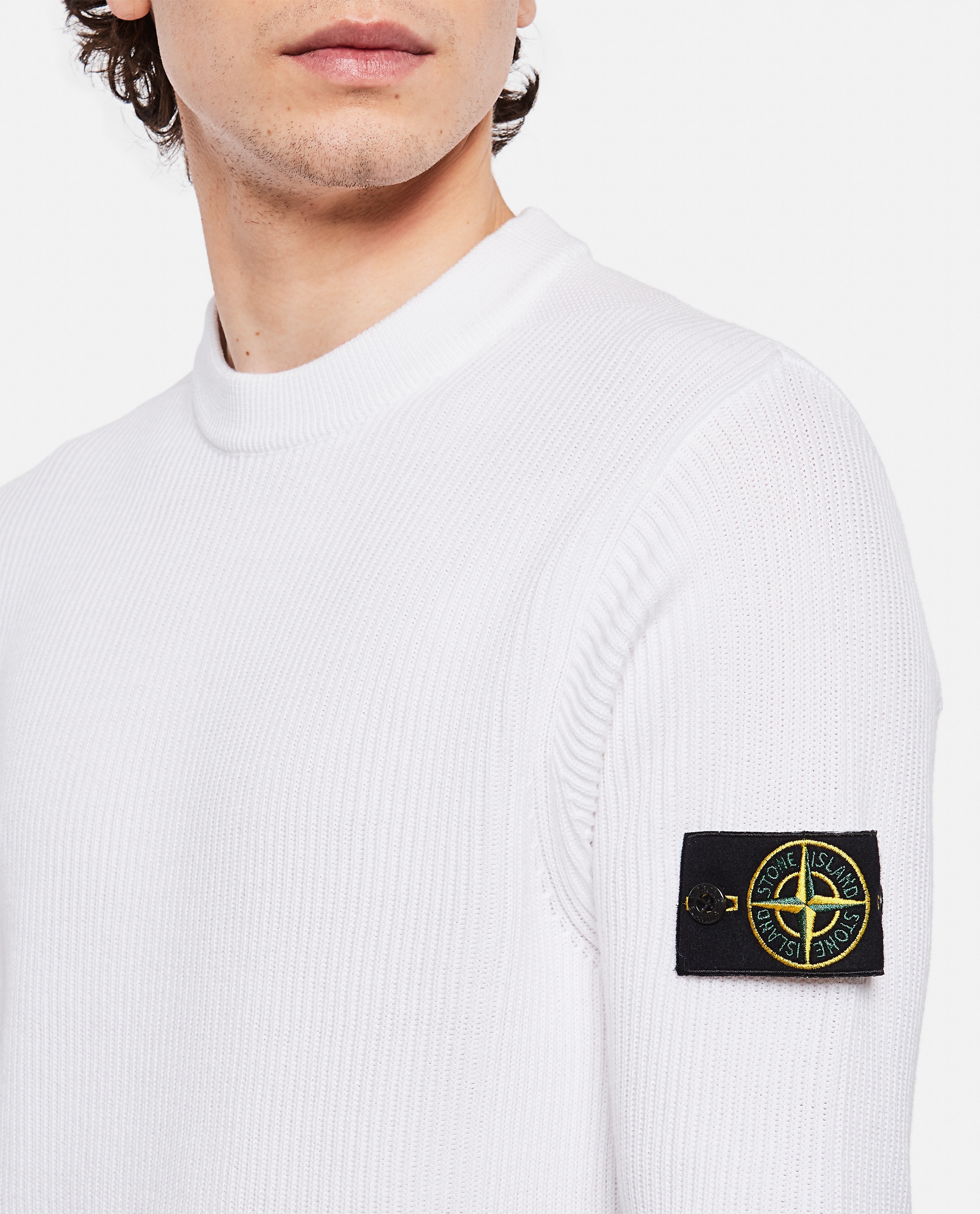 Sweater with logo patch Men Stone Island 000292760043117 4