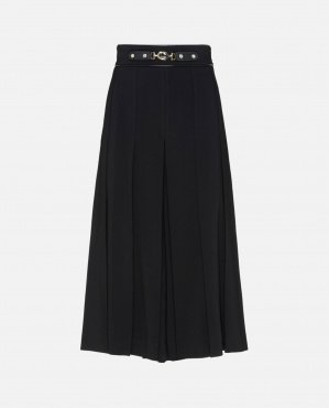 Culotte trousers with black horsebit