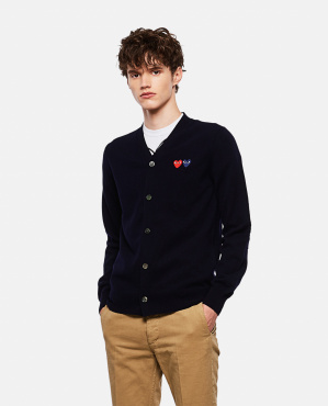 'Double Heart' cardigan Men Comme des Garcons Play 000051290039447 1