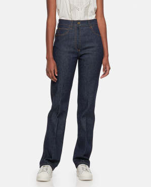 Dyed Drill Jeans Women Fendi 000260820038604 1
