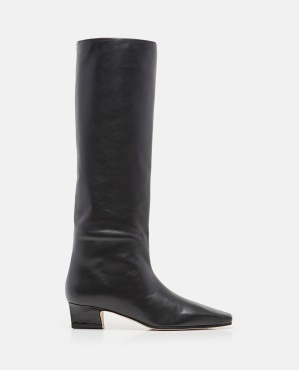 40MM CITY LEATHER KNEE BOOTS