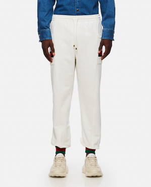 Jersey jogging trousers with Web ribbon