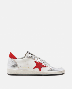 Ball star Golden Goose sneakers in leather with colored star