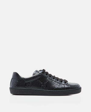 Ace sneaker with embossed GG motif