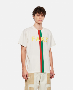 Oversize T-shirt with 'Original Gucci' Print Men Gucci 000269660039736 1