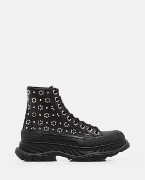 Ankle boots with floral studs Women Alexander McQueen 000285120042029 1