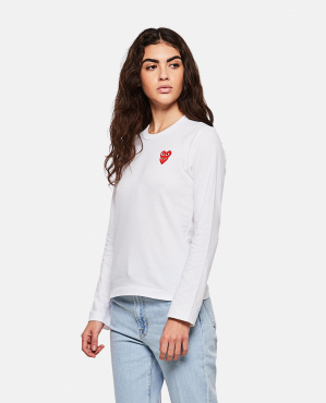 T-shirt with hearts Women Comme des Garcons Play 000267300039442 1