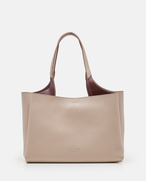 Leather tote bag with embossed logo Women Tod's 000344330050232 1