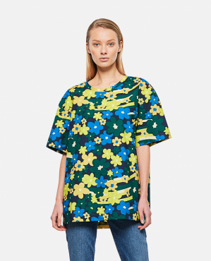 Rainbow Flower print cotton poplin shirt Donna Marni 000289610042650 1