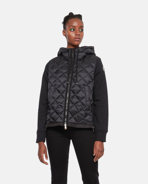 Padded sweatshirt Women Moncler 000259800038457 1