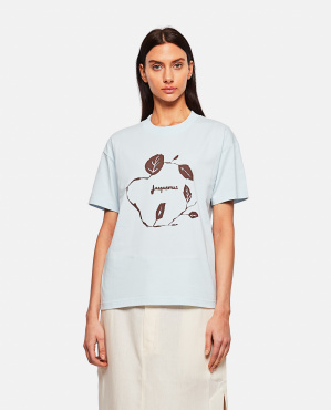 T-shirt in cotone con stampa Donna Jacquemus 000302310044399 1
