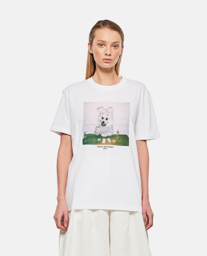 Bunny Print T-Shirt Donna Stella McCartney 000290670042802 1
