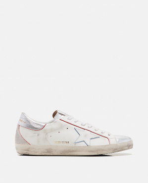 Superstar leather sneakers with star
