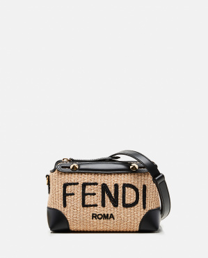 BY THE WAY MINI Small bag in woven straw  Women Fendi 000310800045574 1