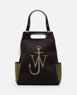 Backpack with logo in cotton Men J.W. Anderson 000293290043194 1