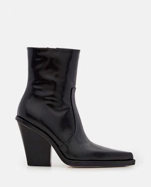 100MM RODEO BRUSHED LEATEHR ANKLE BOOTS