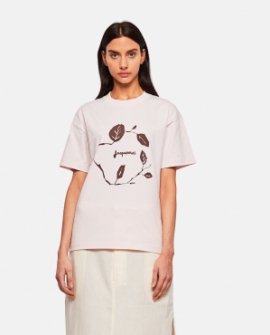 T-shirt in cotone con stampa Donna Jacquemus 000302320044400 1