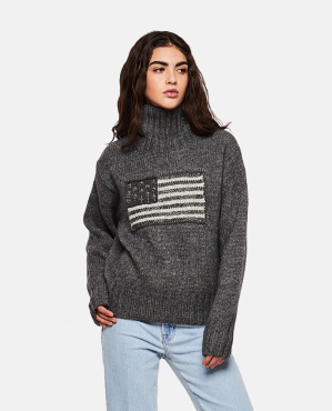 Sweater with flag intarsia Women Polo Ralph Lauren 000265480039211 1