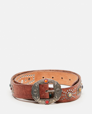 Texas Rodeo belt with studs and crystals