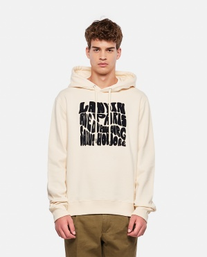 COTTON KNITTED CARPETED HOODIE Men Lanvin 000340900049692 1