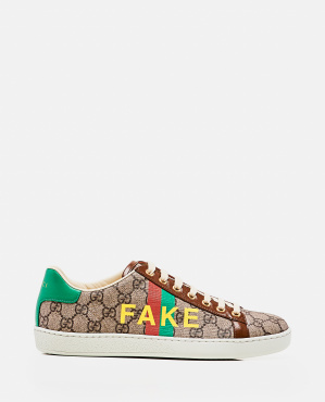 Ace sneaker with 'Fake / Not' print Women Gucci 000274010040357 1