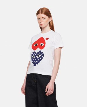 T-shirt  in cotone Play Polka Dot Donna Comme des Garcons Play 000106930016289 1