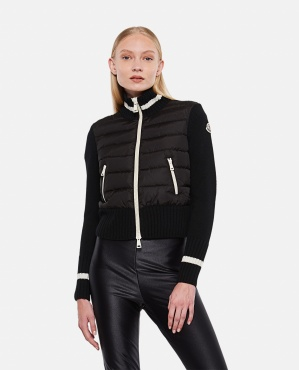 TRICOT CARDIGAN IN WOOL AND NYLON Women Moncler 000331570048363 1