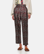 Sally paisley jacquard trousers