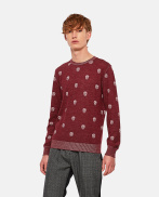 Sweater with multiple skulls