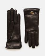 Leather gloves with Double G