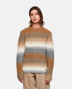 Wool and Alpaca blend pullover with degradé bands