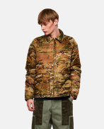 Padded military camouflage jacket