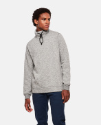 Sweatshirt with high cotton collar